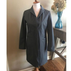 GAP Gray Nylon Stretch Trench Coat size XS